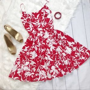 Moda International Red Floral Summer Party Dress